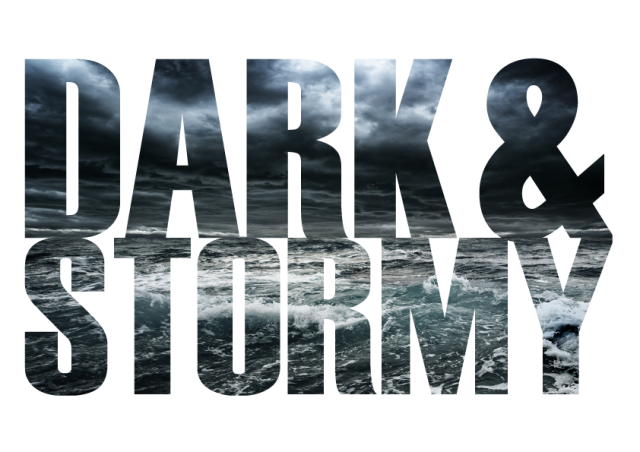 New Dark&Stormy festival logo for a dark & stormy day...