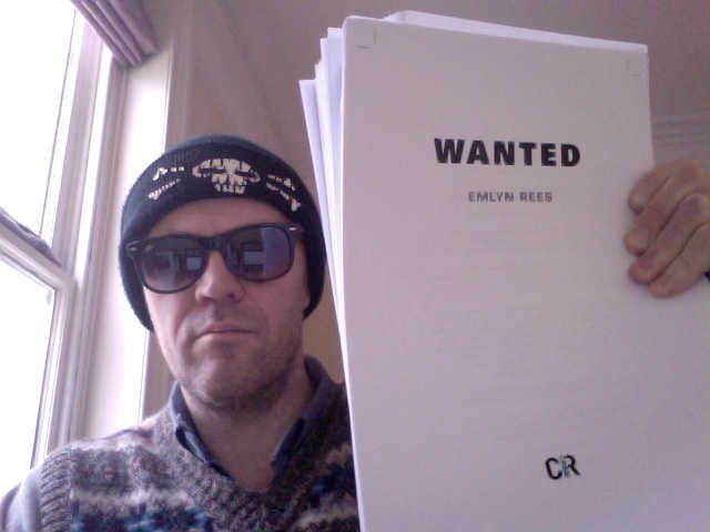 Today I will mostly be reading Wanted proofs in a tank top, bandit hat and shades...