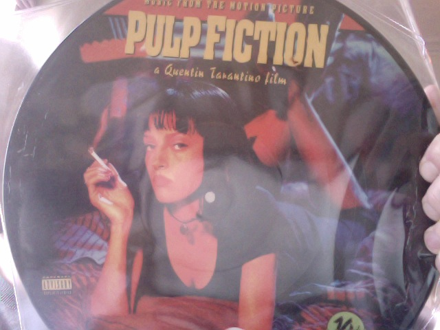 Now that's what I call a picture disk! Pulp Fiction.